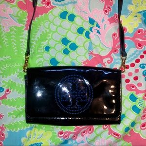 Tory Burch Perforated Logo Crossbody/Clutch